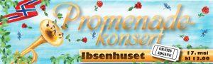 Promenadekonsert i Ibsenhuset 17. mai kl. 13