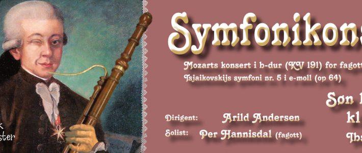 Symfonikonsert søndag 18. mars