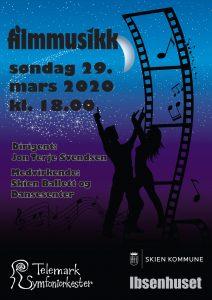 Konsert filmmusikk Ibsenhuset søndag 29.3.20.