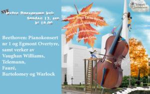 Høstkonsert med Telemark Symfoniorkester. Søndag 13.9.20 kl. 19.00.